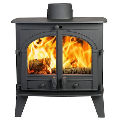 Parkray Consort 9 Wood Boiler Stove Black Double Doors