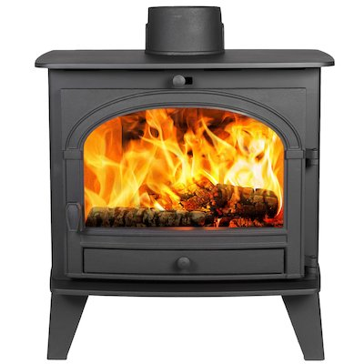 Parkray Consort 9 Wood Boiler Stove Black Single Door
