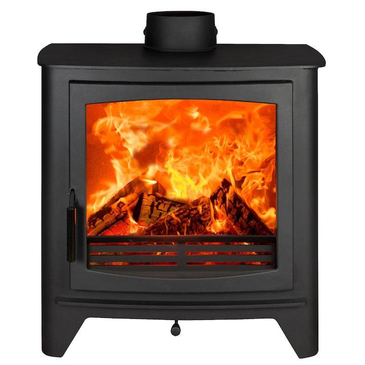 Parkray Aspect 80B Wood Boiler Stove Black Black Handles - Black