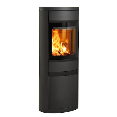 Scan 68 Cupboard Wood Stove Black Solid Sides Black Trim