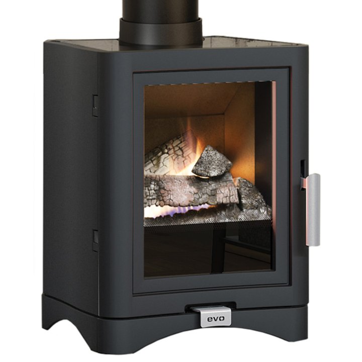 Broseley Evolution 5 Deluxe Conventional Flue Gas Stove - Black