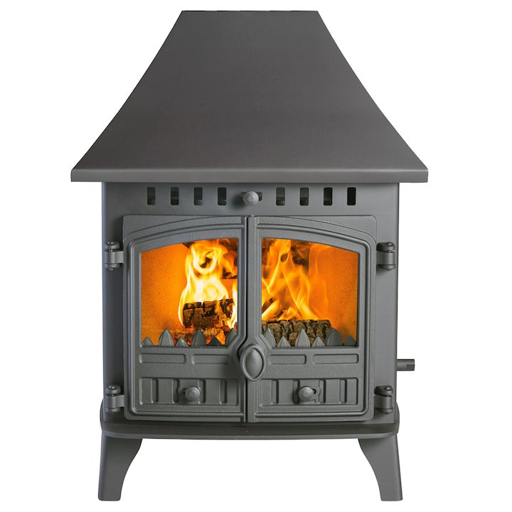 Hunter Herald 6 Double Sided HC Wood Stove - Double Depth