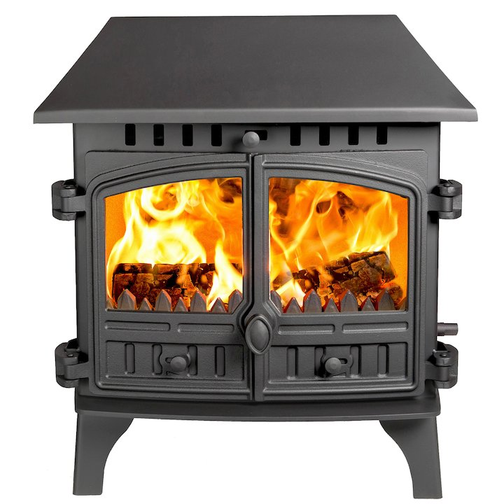 Hunter Herald 8 Double Sided LC Multifuel Stove