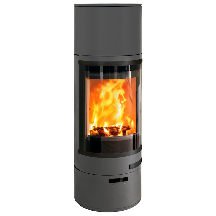 Scan 85 HL Wood Stove Grey Black Trim - Grey