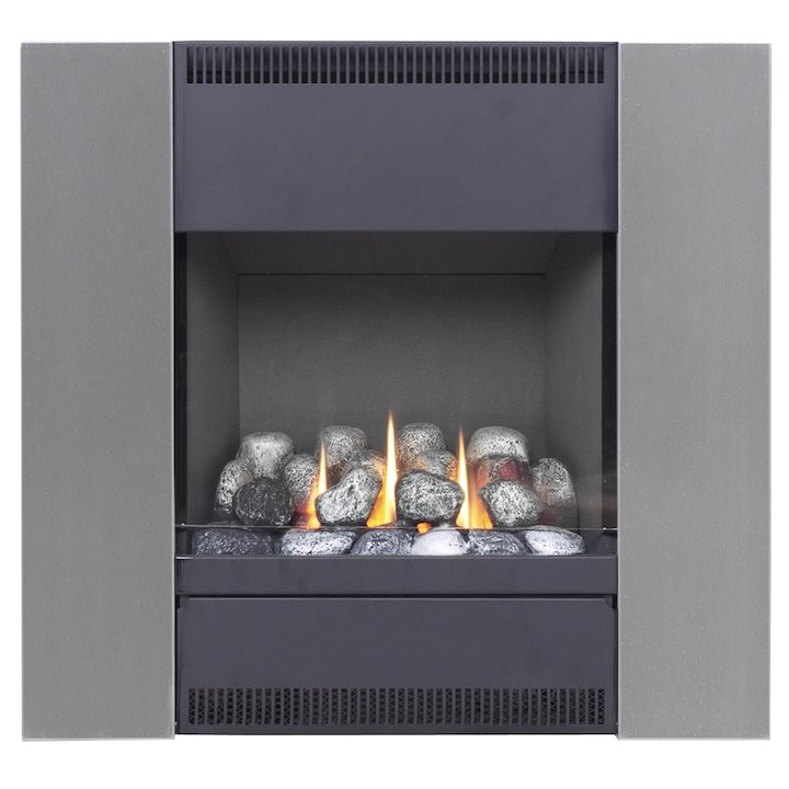 Burley Image Flueless Wall Mounted Gas Fire - Black