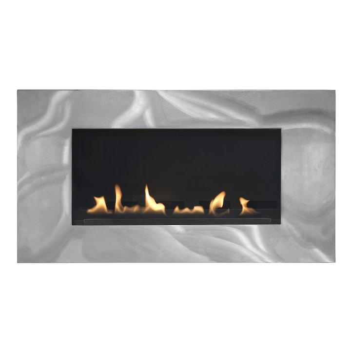 Burley Latitude Flueless Wall Mounted Gas Fire Silver LPG - Silver
