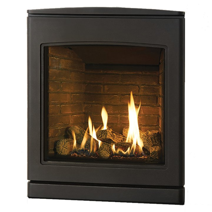 Yeoman CL 530 Conventional Flue Inset Gas Fire Anthracite Brick Effect Lining - Anthracite