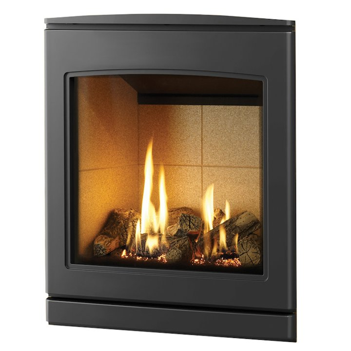 Yeoman CL 530 Conventional Flue Inset Gas Fire Anthracite Beige Vermiculite Lining - Anthracite