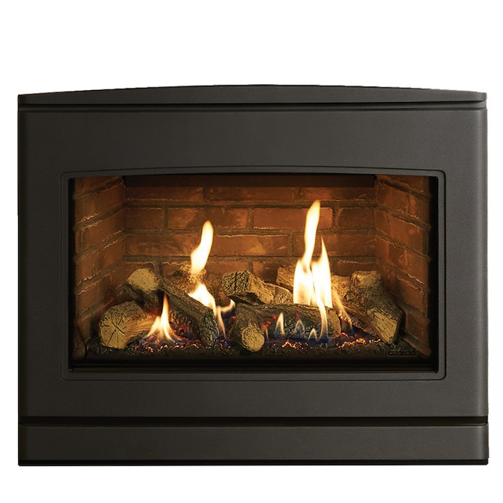 Yeoman CL 670 Conventional Flue Inset Gas Fire Anthracite Brick Effect Lining - Anthracite
