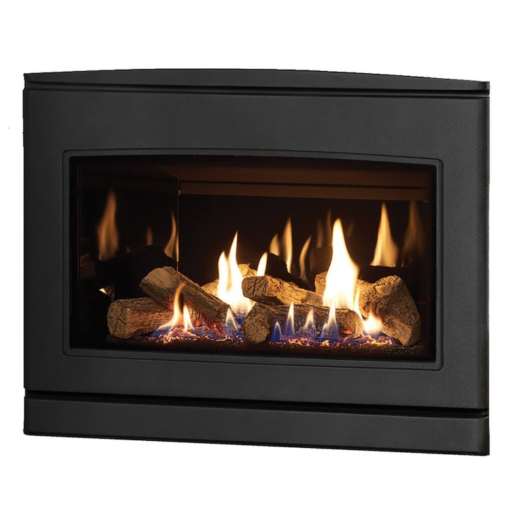 Yeoman CL 670 Conventional Flue Inset Gas Fire Anthracite Black Glass Lining - Anthracite