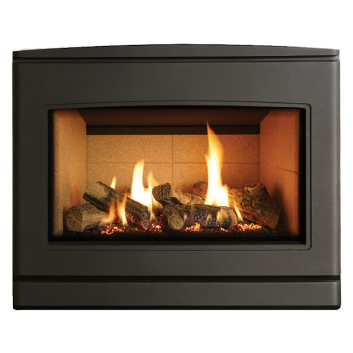 Yeoman CL 670 Conventional Flue Inset Gas Fire Anthracite Beige Vermiculite Lining - Anthracite