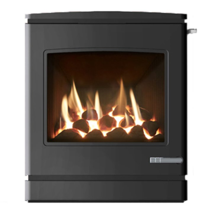 Yeoman CL7 Conventional Flue Inset Gas Fire - Anthracite