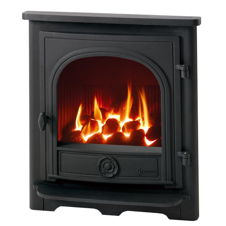 Yeoman Dartmouth Conventional Flue Inset Gas Fire - Black