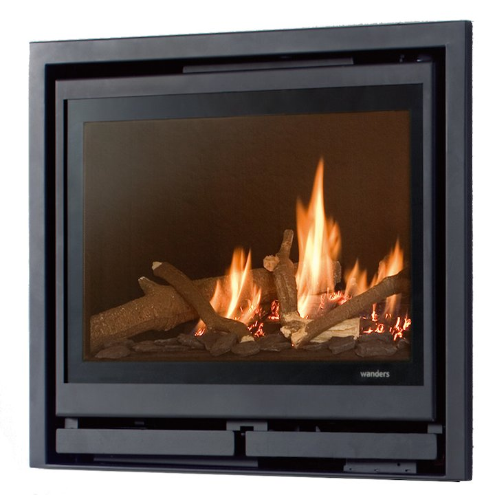 Wanders Square 60G Frontal Balanced Flue Gas Fire - Anthracite
