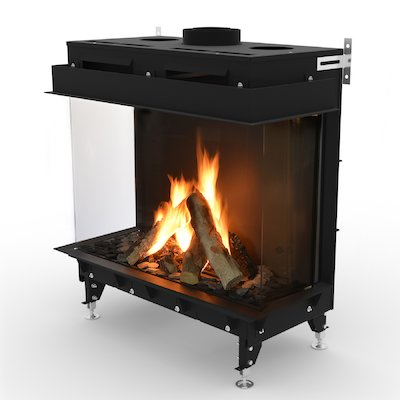 Planika Monroe 900 Balanced Flue Built-In Gas Fire - Three Sided