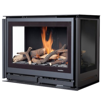 Wanders Square 60G Trilateral Balanced Flue Gas Fire - Three Sided