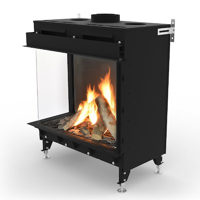 Planika Monroe 900 Balanced Flue Built-In Gas Fire - Corner