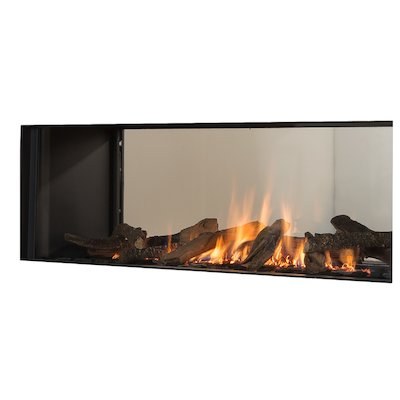 Wanders Koto Balanced Flue Built-In Gas Fire - Tunnel Black LPG