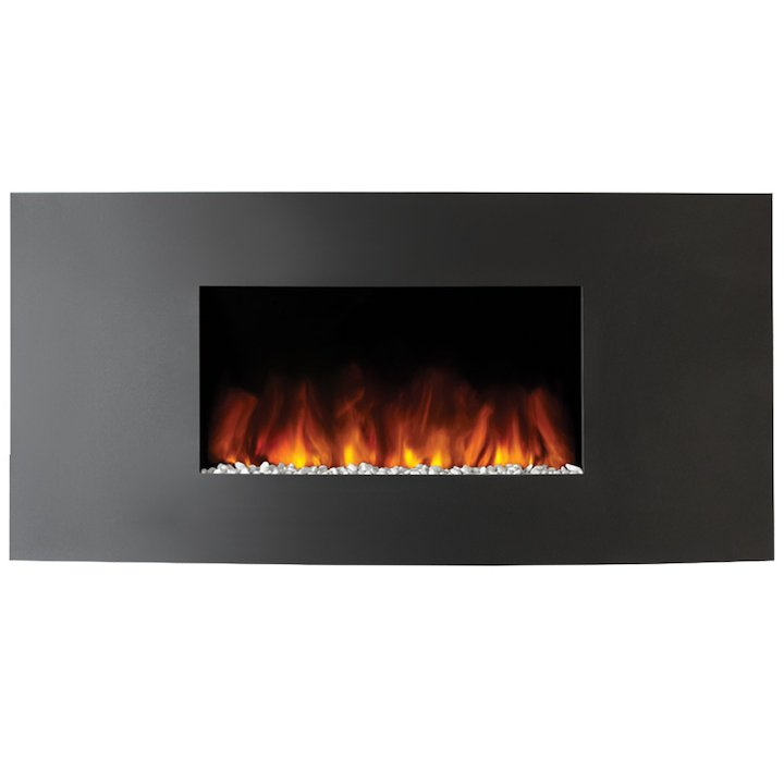 Gazco Studio 1 Verve Wall Mounted Electric Fire - Graphite