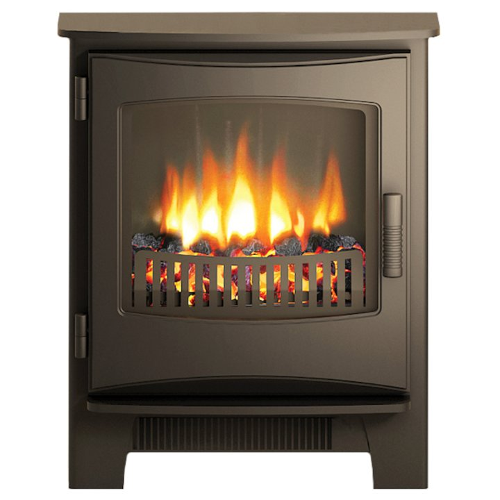 Broseley Evolution Desire/Ignite Inset Electric Stove Black Cast-Iron Door - Black