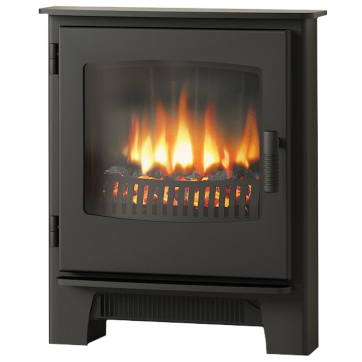 Broseley Evolution Desire/Ignite Inset Electric Stove Black Steel Door - Black