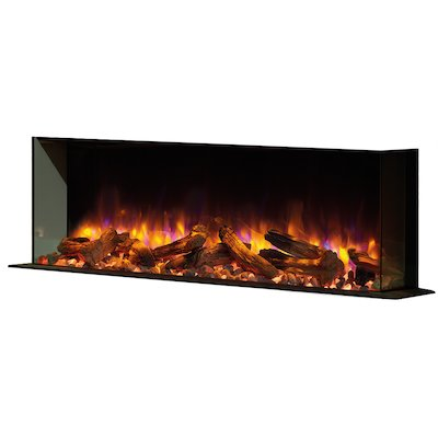 Gazco Skope 110w Built-In Electric Fire - Corner/Three Sided
