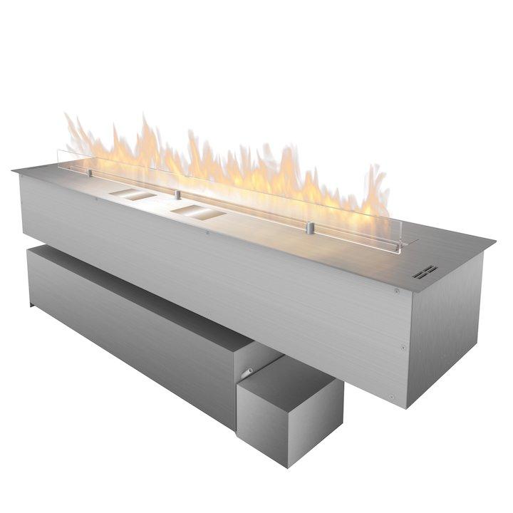 Planika Fireline FLA3/1190 Bio-Ethanol Drop-In Fire Stainless Steel XL Fuel Tank Version - Stainless Steel