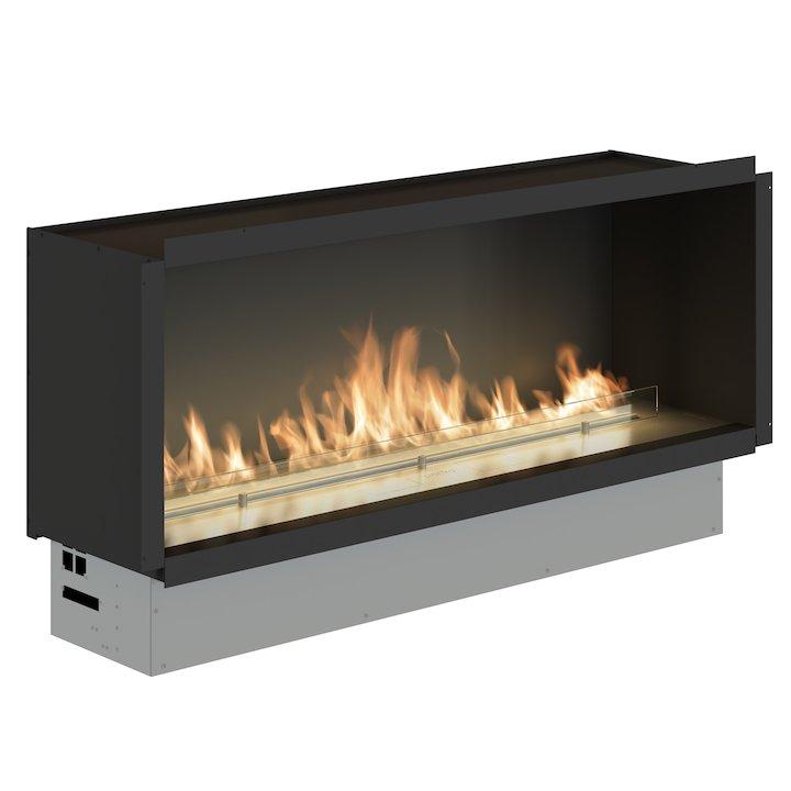 Planika Fireline FLA3/1190 Bio-Ethanol Cassette Fire - Frontal Stainless Steel Standard - Stainless Steel