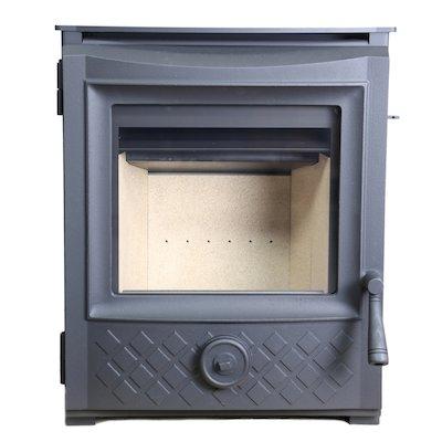 ESSE 350 Multifuel Inset Stove Black Contemporary Door