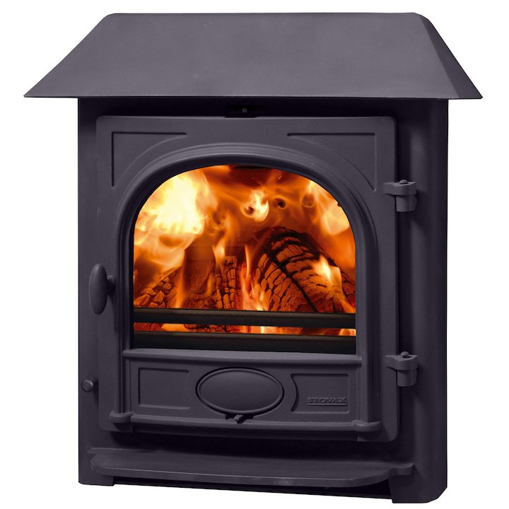 Stovax Stockton 7 Multifuel Inset Stove Metallic Blue Low Canopy Top - Metallic Blue