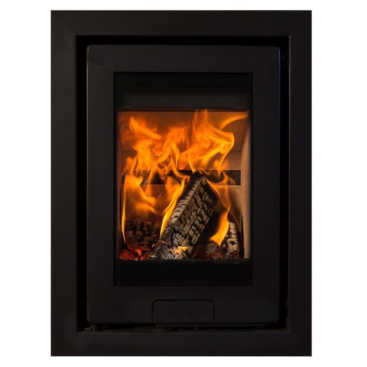 Di Lusso R4 Wood Cassette Fire Anthracite Four Sided Frame - Anthracite