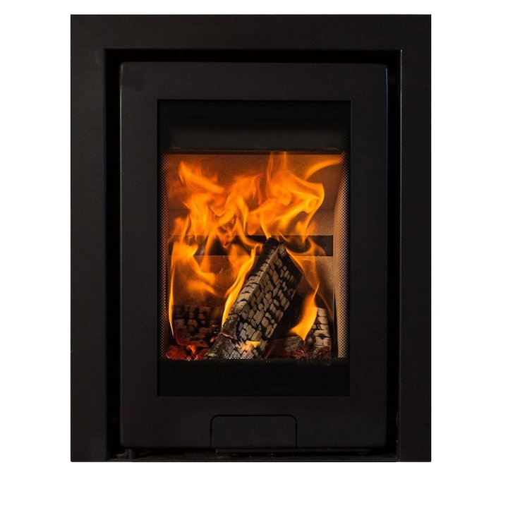 Di Lusso R4 Wood Cassette Fire Anthracite Three Sided Frame - Anthracite