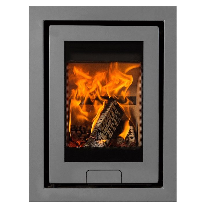 Di Lusso R4 Wood Cassette Fire Silver Four Sided Frame - Silver