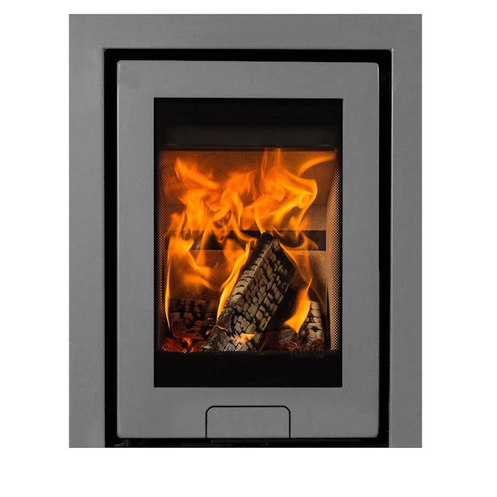 Di Lusso R4 Wood Cassette Fire Silver Three Sided Frame - Silver