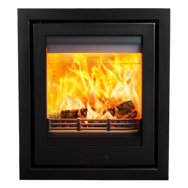 Di Lusso R5 Wood Cassette Fire Anthracite Four Sided Frame - Anthracite