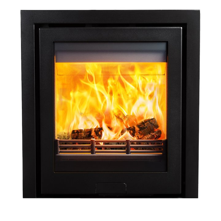 Di Lusso R5 Wood Cassette Fire Anthracite Three Sided Frame - Anthracite