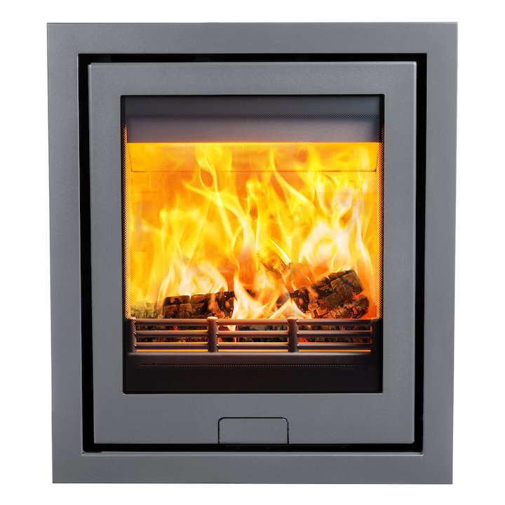 Di Lusso R5 Wood Cassette Fire Silver Four Sided Frame - Silver