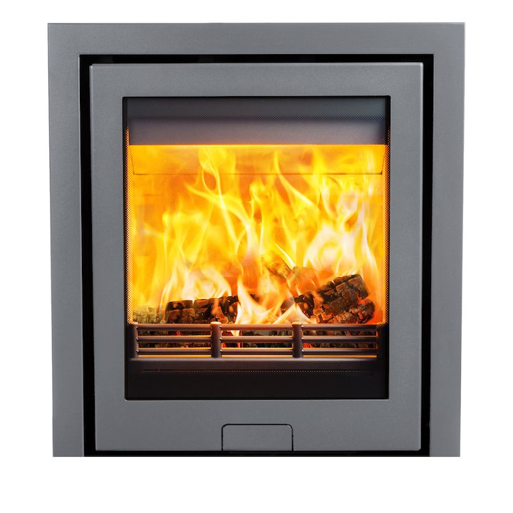 Di Lusso R5 Wood Cassette Fire Silver Three Sided Frame - Silver
