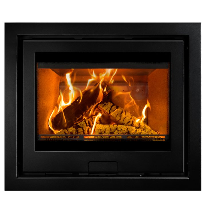 Di Lusso R6 Wood Cassette Fire Anthracite Four Sided Frame - Anthracite