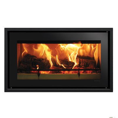 Riva Studio 1 Wood Cassette Fire Black Glass Four Sided Edge+ Frame