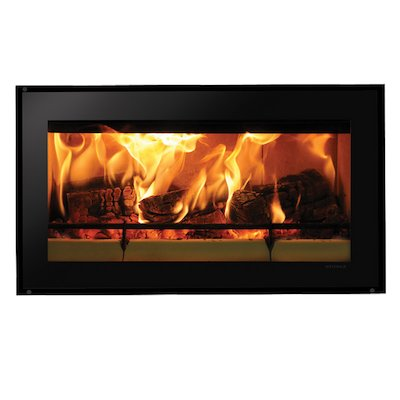 Riva Studio 1 Wood Cassette Fire Black Glass Frameless/Edge