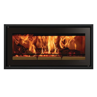 Riva Studio 2 Wood Cassette Fire Black Glass Four Sided Edge+ Frame