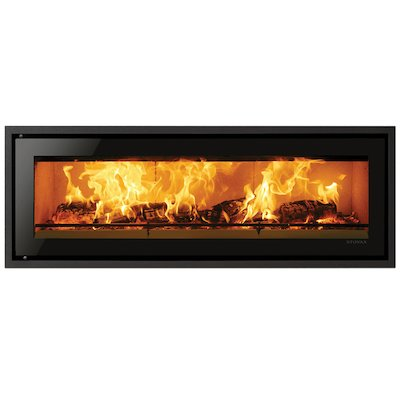 Riva Studio 3 Wood Cassette Fire Black Glass Four Sided Edge+ Frame
