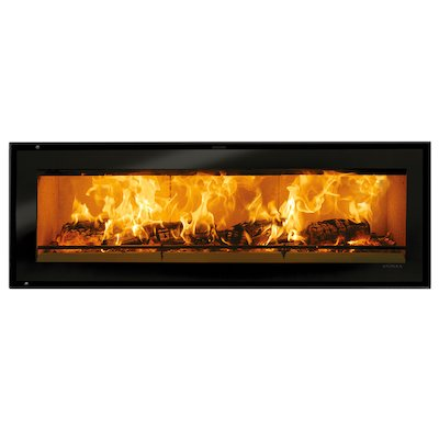 Riva Studio 3 Wood Cassette Fire Black Glass Frameless/Edge