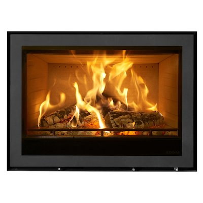 Stovax Elise 850 Wood Cassette Fire Black Frameless/Edge