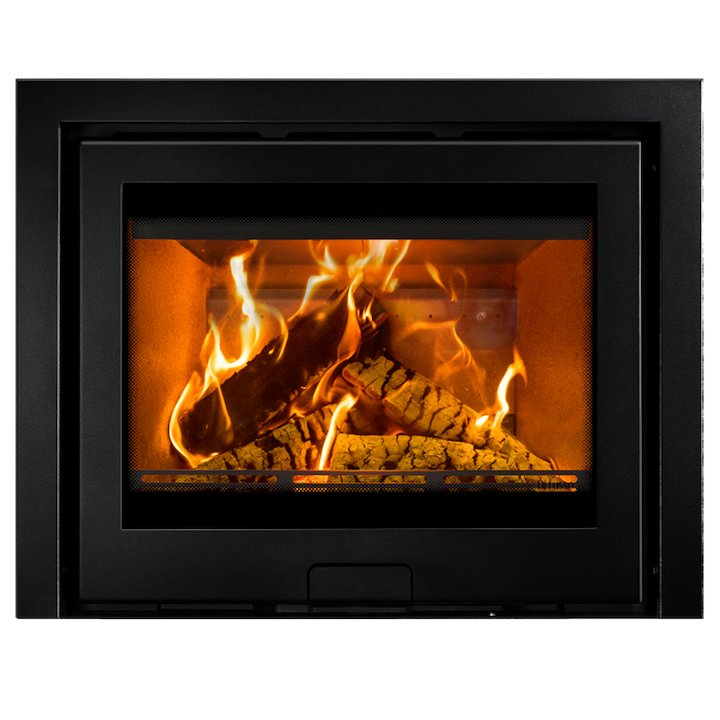 Di Lusso R6 Slimline Wood Cassette Fire Anthracite Three Sided Frame - Anthracite