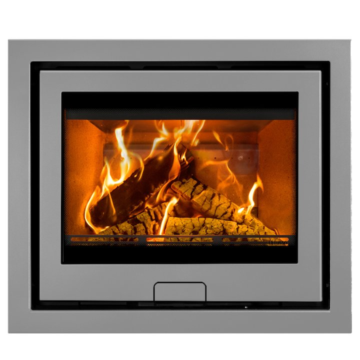 Di Lusso R6 Slimline Wood Cassette Fire Silver Four Sided Frame - Silver