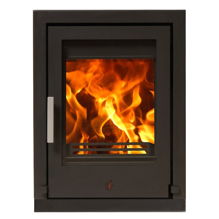 ACR Tenbury T400 Multifuel Cassette Fire - Frontal Black Four Sided Frame - Black