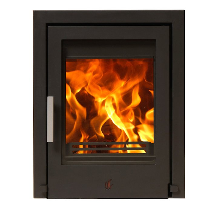 ACR Tenbury T400 Multifuel Cassette Fire - Frontal Black Three Sided Frame - Black
