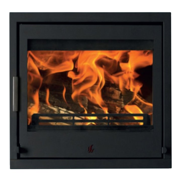 ACR Tenbury T550 Multifuel Cassette Fire - Frontal Black Four Sided Frame - Black